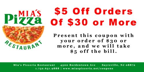 $5 Off $30 Order